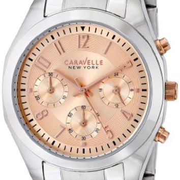 Caravelle New York by Bulova Women's 45L143 Analog Display Japanese Quartz White Watch
