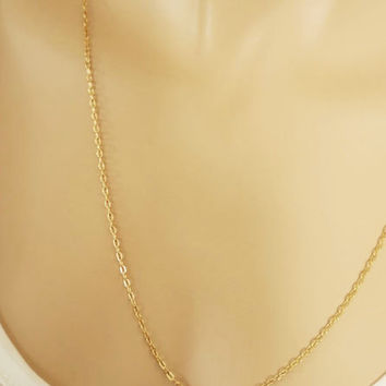 Layering Necklace, 14k Gold Filled Sterling Silver Chain Necklace, Graduation Gift, Girlfriend Gift, Thin Gold Chain,  Bridesmaids Necklace