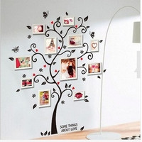 Large Size Family Photo Frame Tree Wall Sticker Stickers Home Decor Living Room Bedroom Decals 45*60CM = 6014706311