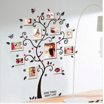 Large Size Family Photo Frame Tree Wall Sticker Stickers Home Decor Living Room Bedroom Decals 45*60CM = 5987730241