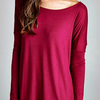 Solid Fall Top - Magenta