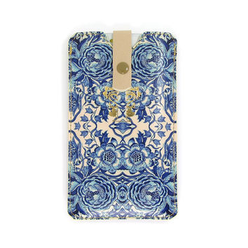 Leather Phone Case  - Blue & White Porcelain