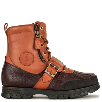 Polo Ralph Lauren Andres Zipper Boot - Tan Briarwood