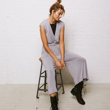 Don't Ask Why Wide Leg Jumpsuit, Gray