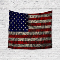 American Money Flag Cash Unique Trendy Boho Wall Art Home Decor Unique Dorm Room Wall Tapestry Artwork