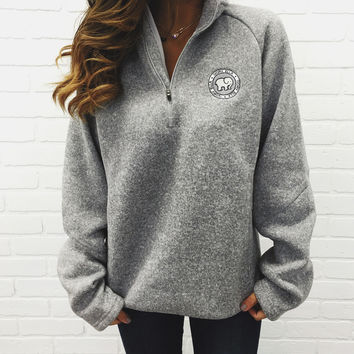 Grey Heathered Quarter Zip