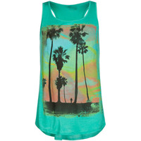 Full Tilt Tropical Girls Tank Green  In Sizes