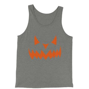 Evil Pumpkin Face (Orange Print) Jersey Tank Top for Men