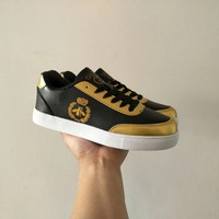 """""""Gucci"""" Men Casual Fashion Multicolor Little Bee Embroidery Plate Shoes Sneakers"""