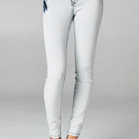 Triple Button Pants Skinny Jeans