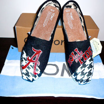 University of Alabama handpainted TOMS