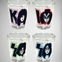 Kiss Shotglass 4 Pk in Fun & Games Drinking Glassware Shooters