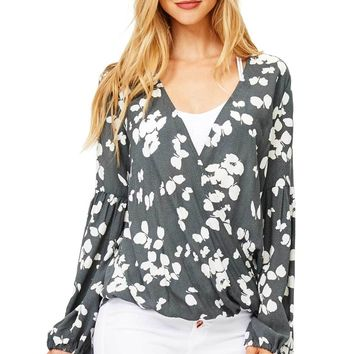 Silhouette Floral Blouse