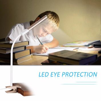 Excelvan W12 Eye Protection Reading Lamp Power Bank Portable Charger Desk Lamp Table Light with Clip And Touch Sense Button DC5V