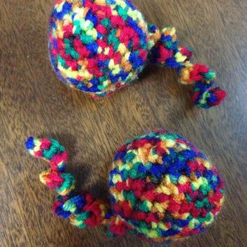 Crochet Set of Two Rainbow Catnip Toys
