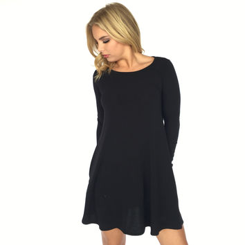 My Comforter Shift Dress In Black