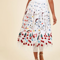 Elegance in Actuality Midi Skirt | Mod Retro Vintage Skirts | ModCloth.com