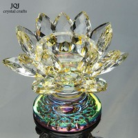 K9 Crystal Lotus Glass Candle Holders 5 Colors Candlestick Tealight Stand Candle Lantern Home Decor Wedding Candelabra