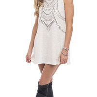 Decked Out Mock Neck Embellished Tank