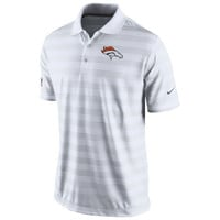 Mens Nike White Denver Broncos Preseason Performance Polo