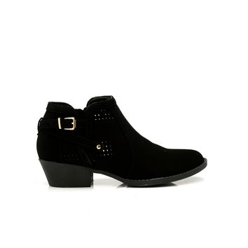 Festival Perforated Bootie - Black