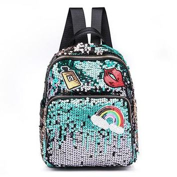 Colorful Sequin Backpack