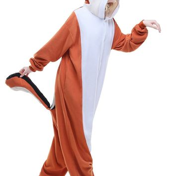 Adult Anime Kigurumi Pajamas Animal Squirrel Novelty Men Women Sleepwear Jumpsuit Sleepsuit Onesuit Halloween Cosplay Costumes
