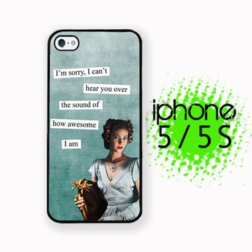 Sound of Awesome iPhone 5S Case | iPhone 5  Plastic or Rubber Hard Case White or Black Sassy Brazen Broad Case