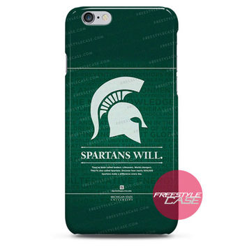 Michigan State Spartans Quotes iPhone Case 3, 4, 5, 6 Cover