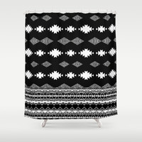 night Shower Curtain by spinL