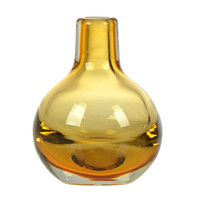 Casamotion Yellow Hand-Blown Mini Glass Vase