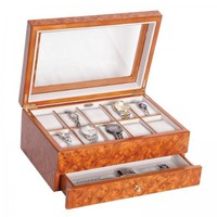 Mele & Co. Peyton Watch Box in Burlwood Oak