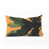 Deb Haugen Bananarama orange Oblong Throw Pillow