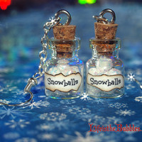 Magical Snowballs Earrings, Christmas, Let It Snow, Inspired by Disney, Christmas in July