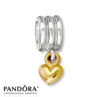Pandora Dangle Charm Heart Sterling Silver