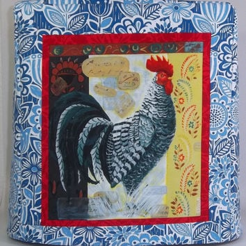 Kitchenaid Mixer Cover- Blue with Rooster