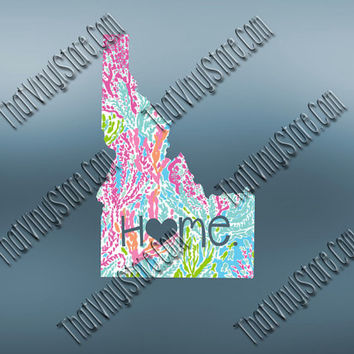 Idaho Heart Home Decal | I Love Idaho Decal | Homestate Decals | Love Sticker | Preppy State Sticker | Preppy State Decal | 052