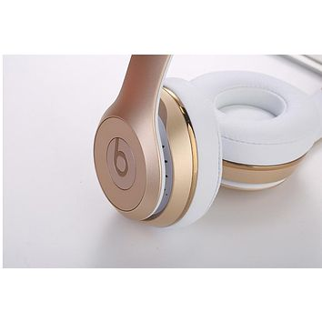 Beats Solo 3 Wireless Magic Wireless Bluetooth Headphone Microphone Line In Jack TF Card Slot F Gold