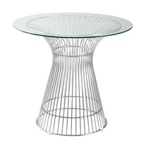 """Libo Dining Table 30"""", Clear"""