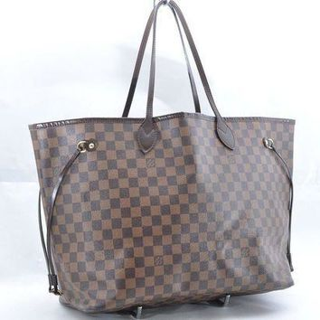 PEAPON Authentic Louis Vuitton Damier Neverfull GM Tote Bag N51106 LV 36746