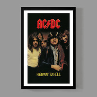 AC/DC Custom Poster - Highway To Hell - Album, Legendary, Iconic, Classic, Rock