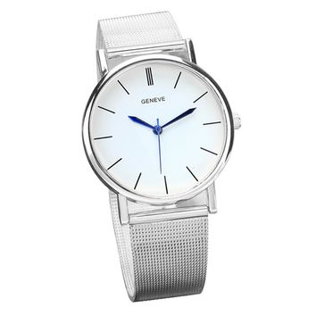 Geneve Women's Fashion Watch Stainless Steel Band Quartz Wrist Watches