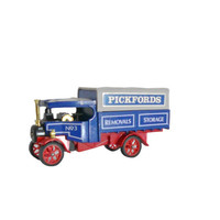 Vintage Matchbox Model Car Toy Models of Yesteryear Y-27  Pickfords 1922 Foden Steam Lorry Wagon Delivery Truck - 1984