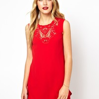 Oasis Lace Trim Shift Dress