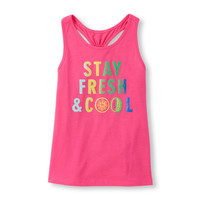 Girls Active Sleeveless Embellished Racer-Back Top | The Children's Place