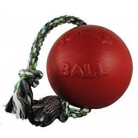 """Jolly Pets Romp-n-Roll Red Dog Toy 8"""" Red"""