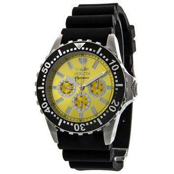 Invicta Signature II Divers Yellow Dial Black Rubber Mens Watch 7439