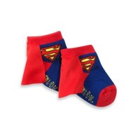 Superman Size 0-12 Months Socks With Cape
