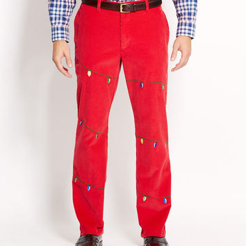 Holiday Lights Embroidered Club Pants