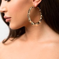 Nevaeh Golden Hoop Earrings